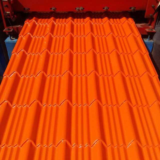 ورق طرح سفال ایتالیایی رنگ نارنجی ژنوا