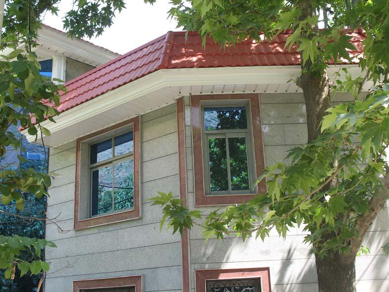 نقش پیشانی ساختمان در سقف های شیبدار