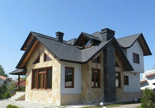 سقف ویلا با طرح مدرن و کلاسیک