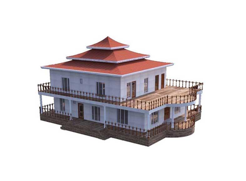 طراحی سه بعدی سقف ویلا