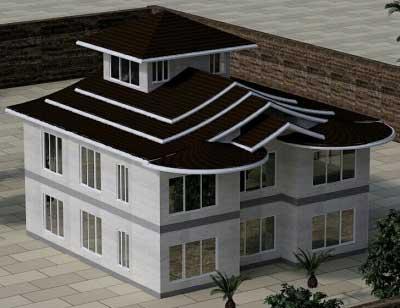 اجرای سقف شیبدار با طراحی سه بعدی رایگان