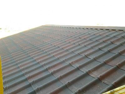 سقف شیب دار آندولین و تایل سنگریزه ای
